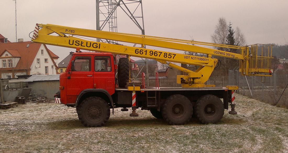 Podest P-183 na podwoziu STAR 266 - podnośnik Koszalin